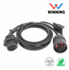 Deutsch J1939 9P Male to J1939 9P Front/Rear screw Female +DB15P Male, Truck Inspection Cable
