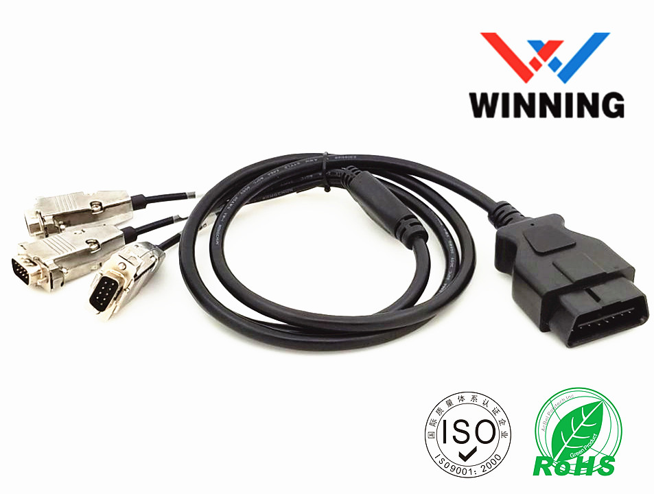 OBDII 16P J1962 Male 3Y D-SUB 9P Male Central SR separate, Vehical Inspection Cable