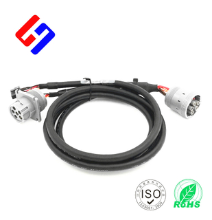Deutsch J1708 6P Male to J1708 6P Female + Molex3.0 2*3P Male, Truck Inspection Cable